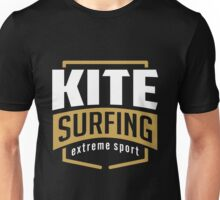 Kitesurfing Extreme Sport Badge Art07c Unisex T-Shirt
