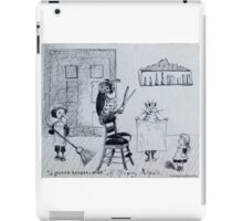 Quirky Christmas Card from the 1870s iPad Case/Skin