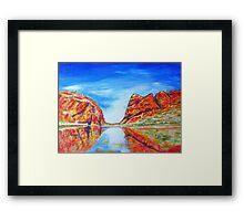 Glen Helen Gorge N.T. Framed Print