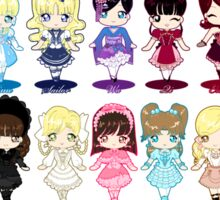 Guide to All Lolita Styles Sticker