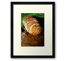 Hmmmmmmm  smell the bread  Framed Print
