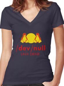 Dev null Women's Fitted V-Neck T-Shirt