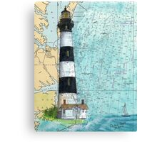 Bodie Island Lighthouse NC Chart Map Cathy Peek Canvas Print