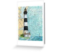 Bodie Island Lighthouse NC Chart Map Cathy Peek Greeting Card