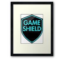 Game Shield (blue) Framed Print