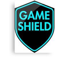 Game Shield (blue) Canvas Print