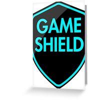 Game Shield (blue) Greeting Card