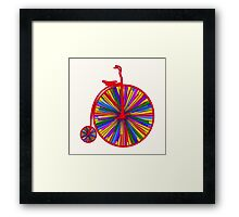 Penny-Farthing Bicycle with Kaleidoscope Wheels Framed Print