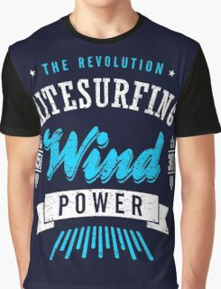 Kitesurfing Wind Power Extreme Sport Graphic T-Shirt
