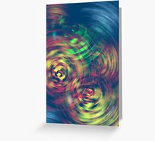 Color ink drops Greeting Card