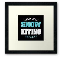 Snowkiting Extreme Sport Framed Print