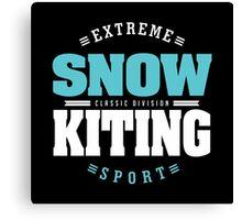 Snowkiting Extreme Sport Canvas Print