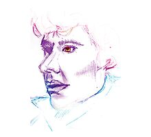 Sherlock Drawing Photographic Print