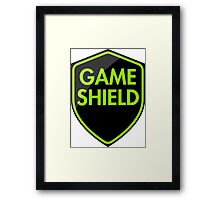 Game Shield (green) Framed Print