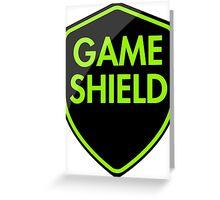 Game Shield (green) Greeting Card