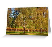 Autumn Vineyard 2012 Greeting Card