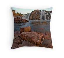 Big Sioux River Falls Throw Pillow