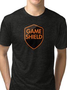 Game Shield (orange) Tri-blend T-Shirt