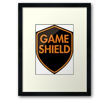 Game Shield (orange) Framed Print
