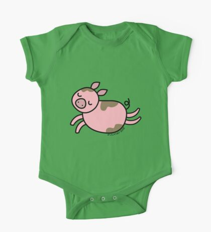 Leaping Pig One Piece - Short Sleeve