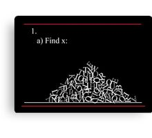 Math problem Canvas Print