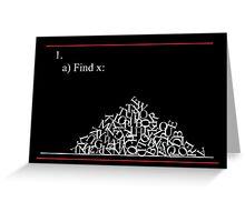 Math problem Greeting Card