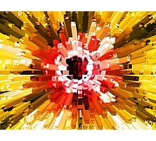Extrusion Abstract Red Orange Yellow Photographic Print