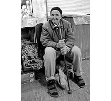 Old Man at the Market, Casablanca Morocco Photographic Print
