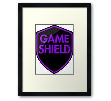 Game Shield (purple) Framed Print