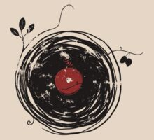 Cool Grunge Enchanting Vinyl Records Vintage by Denis Marsili