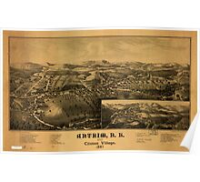 Panoramic Maps Antrim NH and Clinton Village Poster