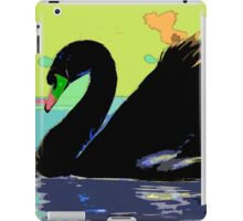 Wild nature - black swan iPad Case/Skin