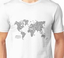 Bike Atlas Black Unisex T-Shirt