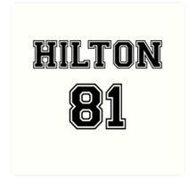 Paris Hilton 'HILTON 81' Sportive / Football Jersey Look Art Print