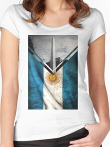 Flags - Argentina Women's Fitted Scoop T-Shirt