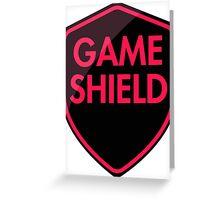 Game Shield (red-pink) Greeting Card