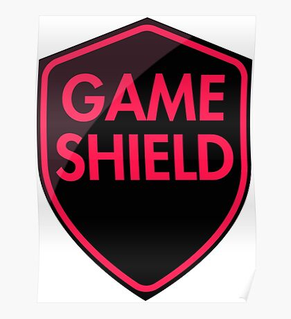 Game Shield (red-pink) Poster