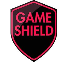 Game Shield (red-pink) Photographic Print