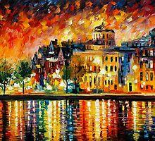 COPENHAGEN - OIL PAINTING BY LEONID AFREMOV by Leonid  Afremov