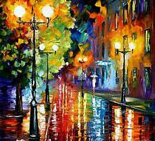 SWEET RAIN - OIL PAINTING BY LEONID AFREMOV by Leonid  Afremov