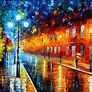 BLUE LIGHTS - OIL PAINTING BY LEONID AFREMOV by Leonid  Afremov