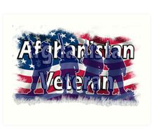 Afghanistan Veteran  Art Print