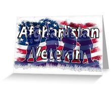 Afghanistan Veteran  Greeting Card