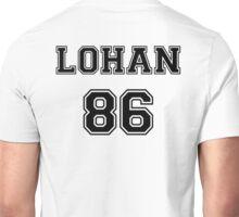 Lindsay Lohan 'LOHAN 86' Sportive / Football Jersey Look Unisex T-Shirt