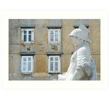 The squire of Piran - Slovenia Art Print