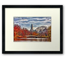 Bow Bridge, Central Park, New York on an Autumn day Framed Print