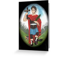 St Expedite Greeting Card