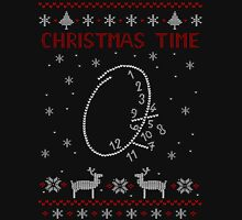 CHRISTMAS TIME - encephalitis clock - ugly christmas sweater Long Sleeve T-Shirt