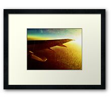 Plane Ride Framed Print