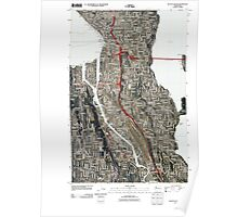USGS Topo Map Washington State WA Seattle South 20110422 TM Poster
